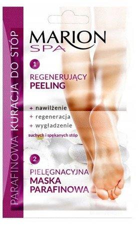 MARION SPA parafinowa kuracja do stóp regenerujący peeling + pielęgnacyjna maska
