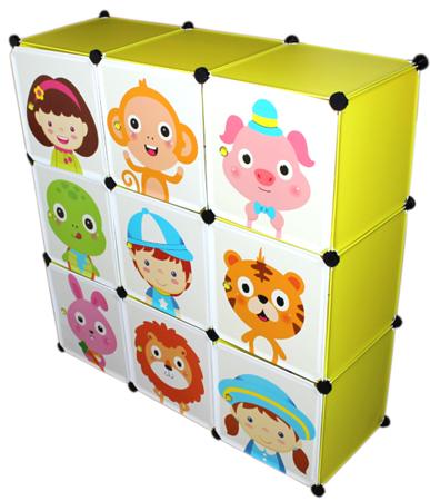 Szafka modułowa dla dzieci na ubrania zabawki 9 półek