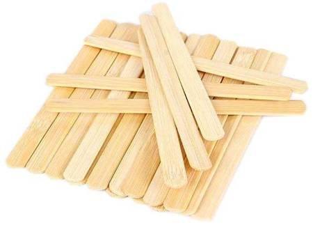 Szpatułki drewniane do wosku wąskie 100 sztuk